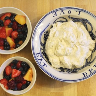 Summer Fruit with Whipped Cream l cookinginmygenes.com