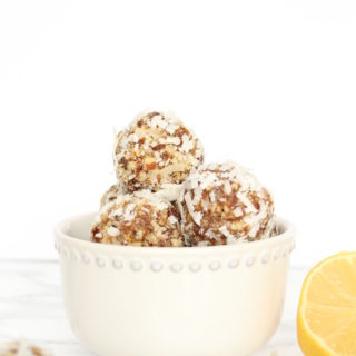 Lemon Coconut Power Balls   cookinginmygenes.com