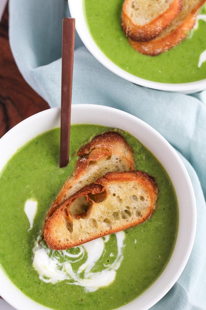 Easy Pea Soup   cookinginmygenes.com