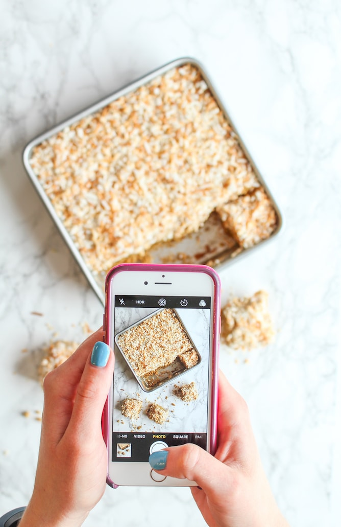 Almond Butter Squares l cookinginmygenes.com