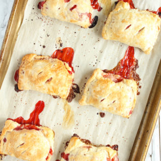 Strawberry Rhubarb Hand Pies   cookinginmygenes.com