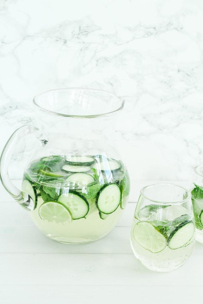 Minty Cucumber Lime Sangria   cookinginmygenes.com