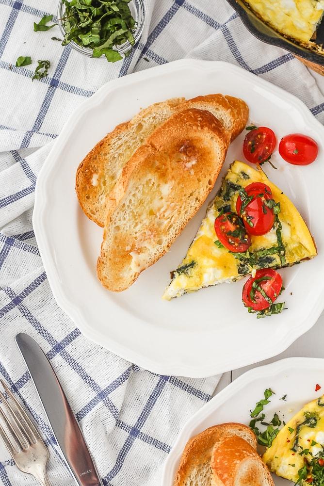 Swiss Chard, Goat Cheese & Leek Frittata   cookinginmygenes.com