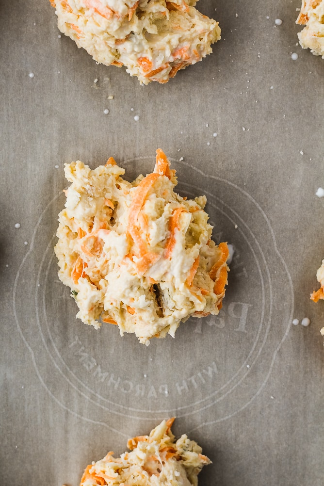 Sweet Potato and Cheddar Cheese Drop Biscuits | Recipe from cookinginmygenes.com