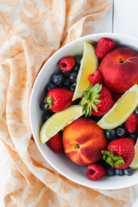 Summer Fruit with Whipped Cream | cookinginmygenes.com