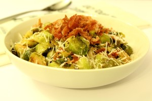 Prosciutto Parmesan Brussel Sprouts l Thanksgiving Side Dish l cookinginmygenes.com