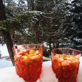 Winter Rosé Sangria l Cooking in my Genes l cookinginmygenes.com