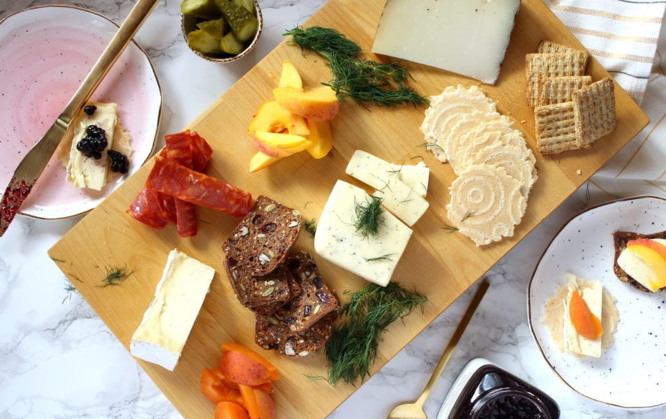 Cheese & Charcuterie Board l cookinginmygenes.com