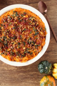 Bacon & Sage Sweet Potatoes l cookinginmygenes.com