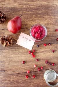 Cranberry-Pear Chia Seed Jam | cookinginmygenes.com