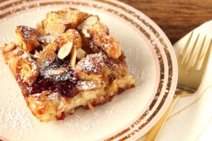 Easy Baked Croissant French Toast | cookinginmygenes.com