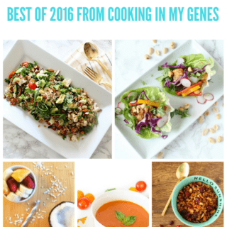 Best of 2016 Recipes from cookinginmygenes.com