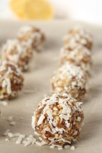 Lemon Coconut Power Balls | cookinginmygenes.com