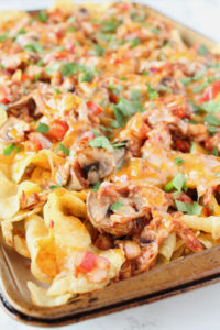Kettle Chip BBQ Chicken Nachos | cookinginmygenes.com
