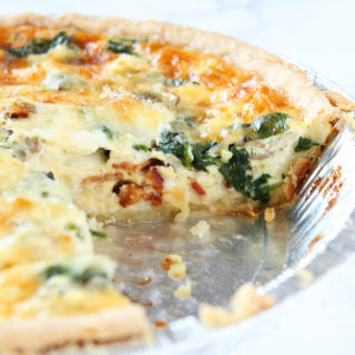 Bacon, Mushroom & Spinach Quiche from cookinginmygenes.com