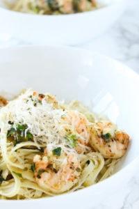 Delicious Shrimp Pasta | cookgininmygenes.com