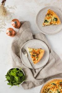 Bacon, Spinach & Mushroom Quiche