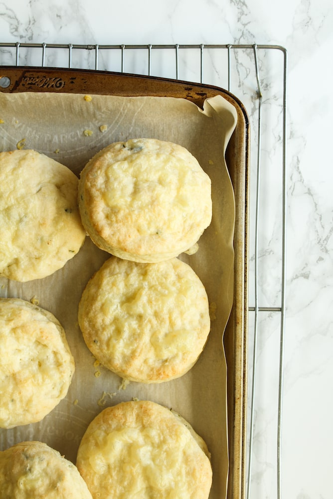 Cheddar-Thyme Biscuits | cookinginmygenes.com