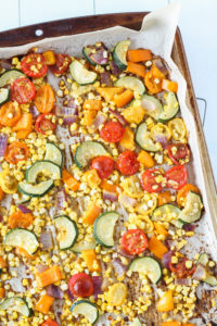Roasted Summer Vegetable Salad | cookinginmygenes.com