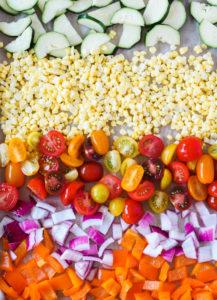 Roasted Summer Vegetable Salad   cookinginmygenes.com
