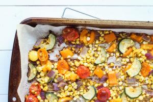 Roasted Summer Vegetable Salad | cookinginmygenes.com
