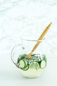 Minty Cucumber Lime Sangria | cookinginmygenes.com