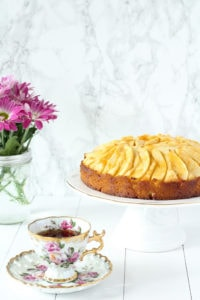 Apple Sponge Cake   cookinginmygenes.com