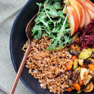 Roasted Harvest Vegetable Bowl | cookinginmygenes.com