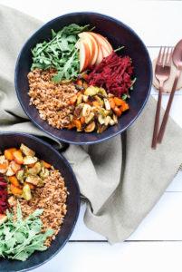 Roasted Harvest Vegetable Bowl | cookinginmygenes.com