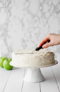 Apple Cinnamon Cake with Cream Cheese Icing | cookinginmygenes.com