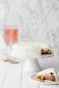 Apple Cinnamon Cake with Cream Cheese Icing   cookinginmygenes.com