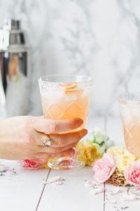 Grapefruit Lavender Spring Blossom Cocktail | cookinginmygenes.com