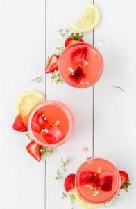 Strawberry Lemonade Rosé Punch   cookinginmygenes.com