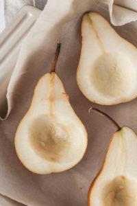 Baked Pears with Cardamom Cream   cookinginmygenes.com