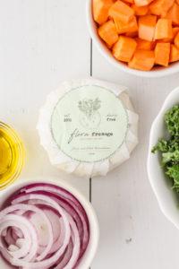 Roasted Sweet Potato Kale Flatbread | cookinginmygenes.com