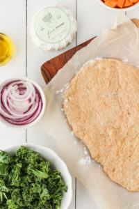 Roasted Sweet Potato Kale Flatbread   cookinginmygenes.com