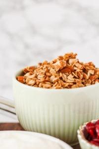 Easy Skillet Coconut & Almond Granola   cookinginmygenes.com