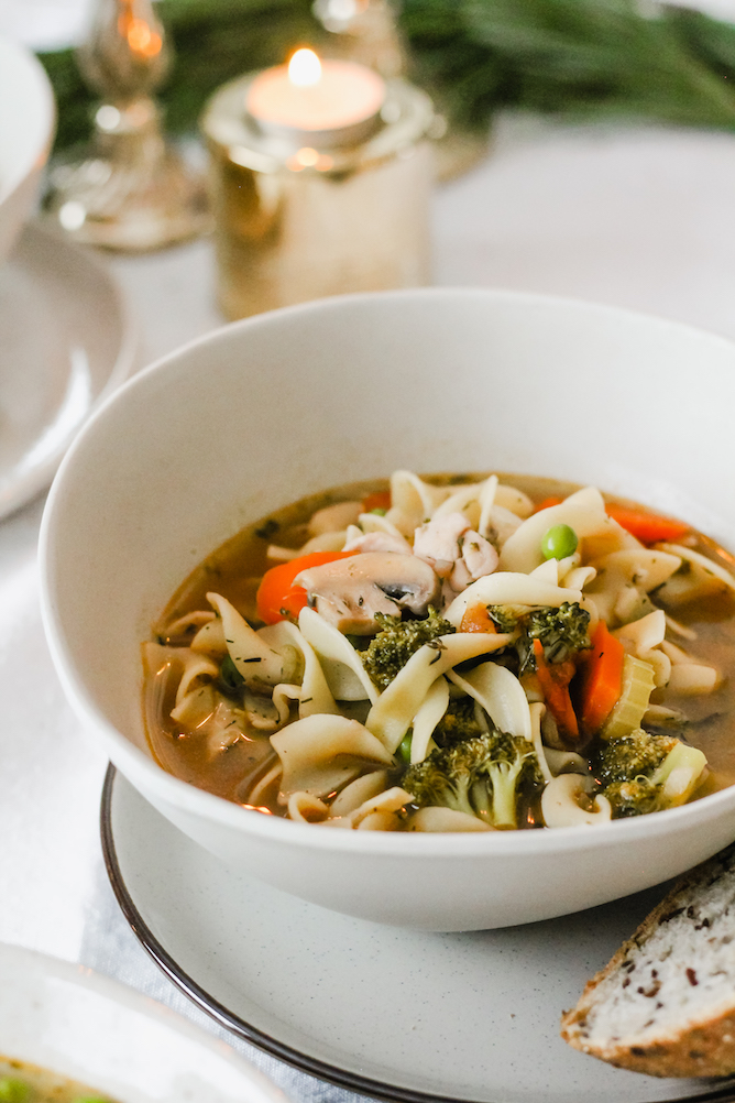 Chicken Noodle Soup for a Winter Gathering | cookinginmygenes.com