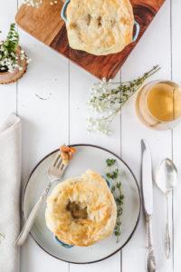 Pinto Bean & Thyme Pot Pies | cookinginmygenes.com