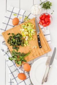 Swiss Chard, Goat Cheese & Leek Frittata | cookinginmygenes.com