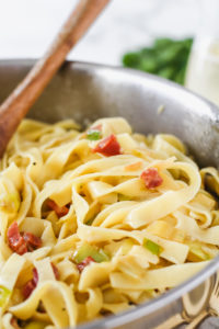 Leek & Pancetta Pasta | cookinginmygenes.com