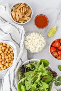 Chickpea Taco Bowls | cookinginmygenes.com