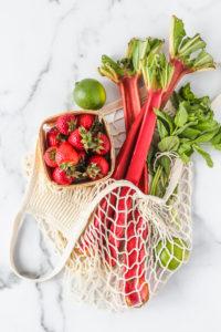 Berry Rhubarb Kombucha Sangria | cookinginmygenes.com