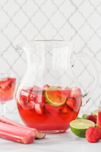 Berry Rhubarb Kombucha Sangria   cookinginmygenes.com