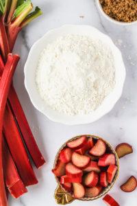 Rhubarb Cake   cookinginmygenes.com