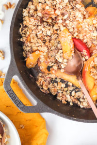 Stone Fruit Breakfast Crumble | cookinginmygenes.com