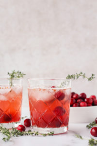 Kombucha Cranberry Bourbon Smash