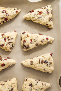 Cranberry Chocolate Scones with Orange Glaze | cookinginmygenes.com