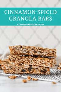 Cinnamon Spiced Granola Bars