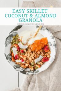 Easy Skillet Coconut & Almond Granola